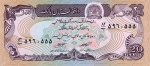 20 Afganistano afgnių.