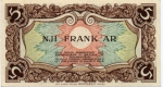 5 Albanijos frankai.