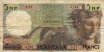 5 Alžyro naujieji frankai.