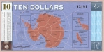 10 Antarktidos dolerių.