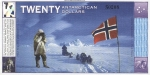 20 Antarktidos dolerių.