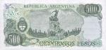 500 Argentinos pesų.