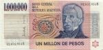 1000000 Argentinos pesų.