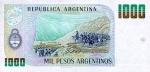 1000 Argentinos pesų.
