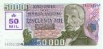 50000 Argentinos australų.
