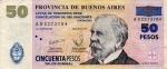 50 Argentinos pesų.