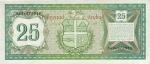 25 Arubos guldenai.