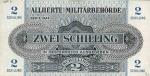 2 Austrijos šilingai.