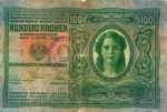 100 Austrijos koronų.
