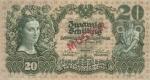 20 Austrijos šilingų.