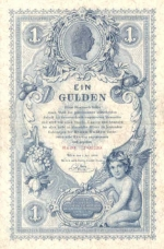 1 Austrijos guldenas.