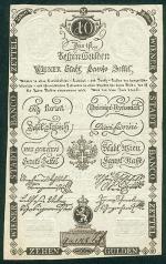 10 Austrijos guldenų.