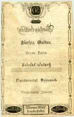 50 Austrijos guldenų.