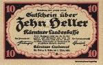10 Austrijos helerių.