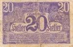 20 Austrijos helerių.