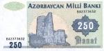 250 Azerbaidžano manatų.