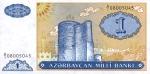1 Azerbaidžano manatas.