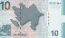 10 Azerbaidžano manatų.