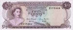Pusė Bahamų dolerio.