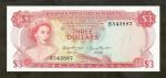 3 Bahamų doleriai.