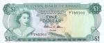 1 Bahamų doleris.