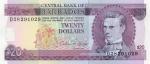 20 Barbadoso dolerių.