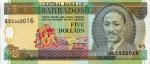 5 Barbadoso doleriai.