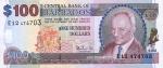 100 Barbadoso dolerių.