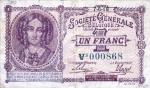 1 Belgijos frankas.