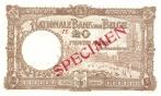 20 Belgijos frankų.