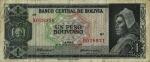 1 Bolivijos pesas bolivianas.