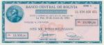 10000 Bolivijos pesų bolivianų.