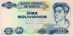 10 Bolivijos bolivianų.