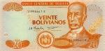 20 Bolivijos bolivianų.