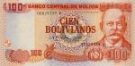100 Bolivijos bolivianų.