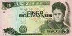 5 Bolivijos bolivianai.