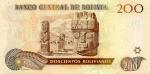 200 Bolivijos bolivianų.