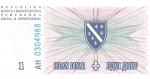 1 Bosnijos ir Hercegovinos dinaras.