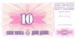 10 Bosnijos ir Hercegovinos dinarų.