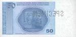 50 Bosnijos ir Hercegovinos konvertuojamų pfeningų.