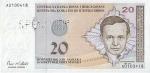 20 Bosnijos ir Hercegovinos konvertuojamų markių.