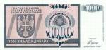 1000 Bosnijos ir Hercegovinos dinarų.