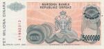 5000000 Bosnijos ir Hercegovinos dinarų.