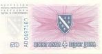 50 Bosnijos ir Hercegovinos dinarų.