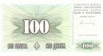 100 Bosnijos ir Hercegovinos dinarų.