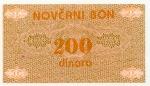 200 Bosnijos ir Hercegovinos dinarų.