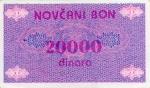 20000 Bosnijos ir Hercegovinos dinarų.