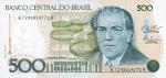 500 Brazilijos kruzadų.