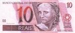 10 Brazilijos realų.