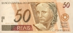 50 Brazilijos realų.